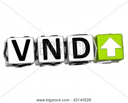 3D Vietnamese Dong Currency Vnd Button Click Here Block Text