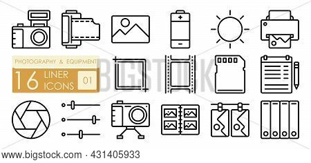 Equipment For Photography And Film Processing. Printing Of Finished Photos. Camera, Film, Memory Car