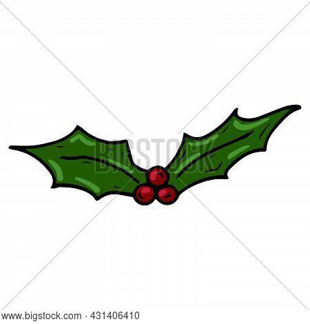 Christmas Decor Icon. Vector Illustration Of Christmas Decoration. Hand Drawn Christmas Decor.