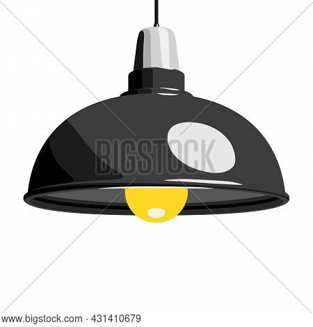 Pendant Lamp, Hanging Lamp Or Ceiling Lamp. Home Or Office Interior And Decor. Vector Illustration I