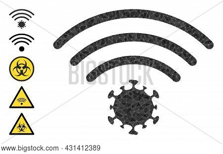 Triangle Virus Source Polygonal Icon Illustration, And Similar Icons. Virus Source Is Filled With Tr