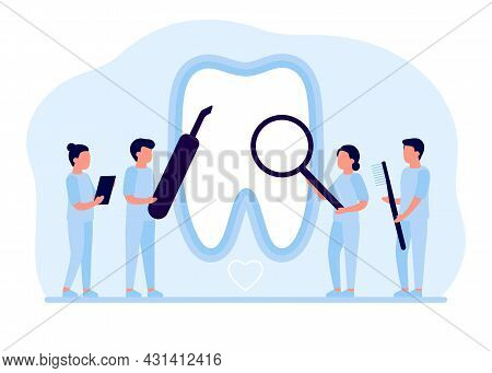 Tooth Restoration, Repair, Dental Care. Teeth Cleaning, Whitening And Treatment, Checkup By Dentist.