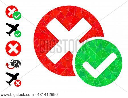 Triangle True Negative Polygonal 2d Illustration, And Similar Icons. True Negative Is Filled With Tr