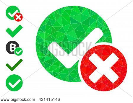 Triangle False Positive Polygonal 2d Illustration, And Similar Icons. False Positive Is Filled With