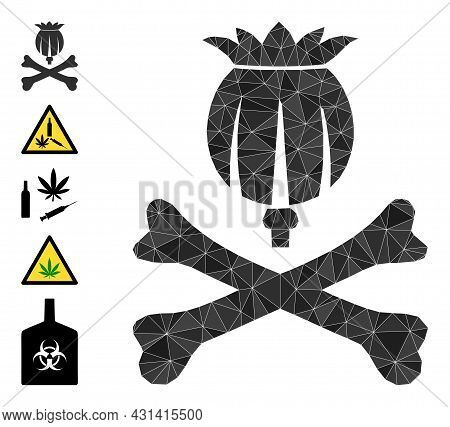 Triangle Mortal Opium Polygonal Symbol Illustration, And Similar Icons. Mortal Opium Is Filled With