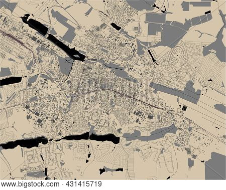 Map Of The City Of Khmelnytskyi, Ukraine