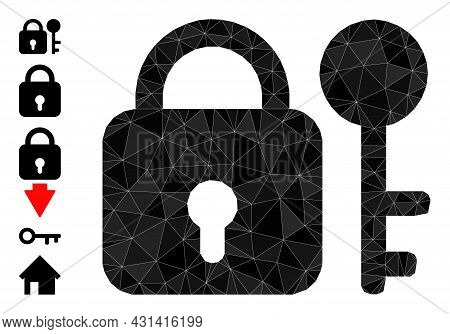 Triangle Secrecy Polygonal Symbol Illustration, And Similar Icons. Secrecy Is Filled With Triangles.
