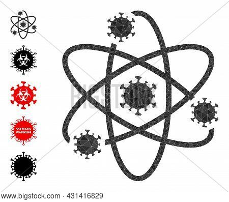 Triangle Atom Viruses Polygonal 2d Illustration, And Similar Icons. Atom Viruses Is Filled With Tria