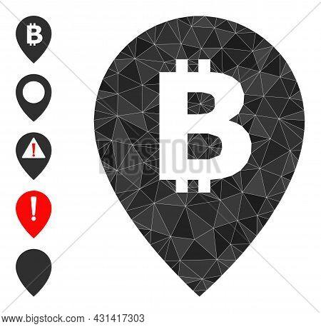 Triangle Bitcoin Map Pointer Polygonal Symbol Illustration, And Similar Icons. Bitcoin Map Pointer I