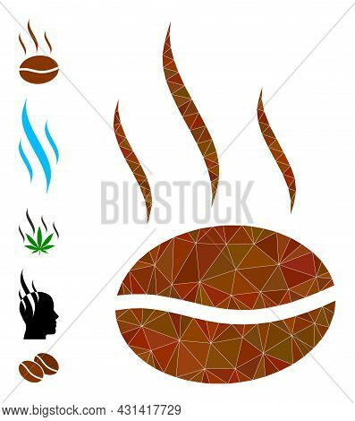 Triangle Coffee Aroma Polygonal Icon Illustration, And Similar Icons. Coffee Aroma Is Filled With Tr