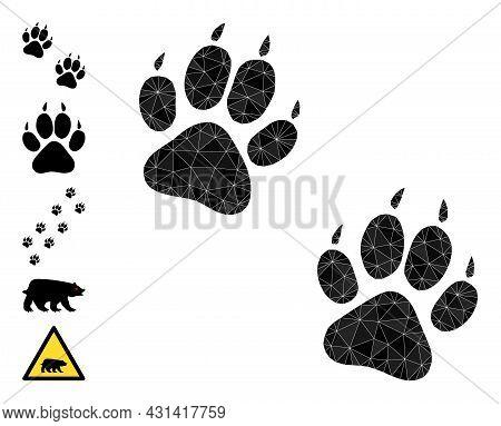 Triangle Tiger Fingerprints Polygonal 2d Illustration, And Similar Icons. Tiger Fingerprints Is Fill