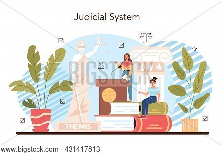 Law Class Concept. Punishment And Judgement Education. Jurisprudence School