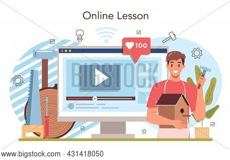 Crafting And Modeling School Course Online Service Or Platform