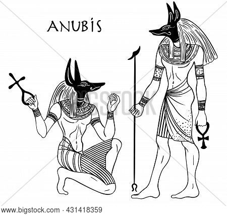 Anubis. In Ancient Egyptian, God Of Death, Mummification, Embalming, The Afterlife, Cemeteries, Tomb