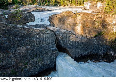 Natural Bridge In Yoho National Park, Bc, Canada
