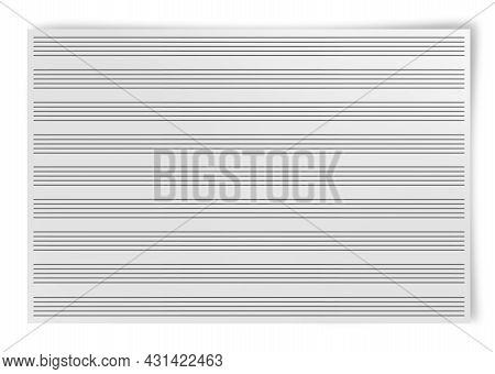 Blank Music Sheet  Isolated On White Background