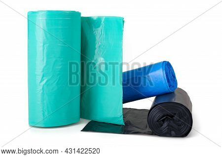 Garbage Bags Isolated On A White Background