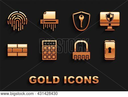 Set Password Protection And Safety Access, Computer Monitor Shield, Smartphone With Lock, Safe Combi