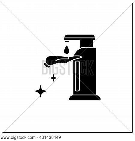 Sanitizer Dispenser Glyph Icon. Liquid Soap Or Antibacterial Solution Dispenser.concept Of Hygiene,