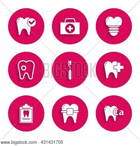 Set Toothbrush, Teeth With Braces, Calcium For Tooth, Dental Clinic Dental Care, Clipboard Card, Car