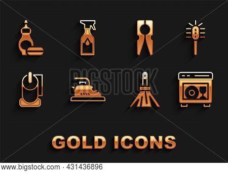 Set Electric Iron, Toilet Brush, Dishwasher Machine, Handle Broom, Paper Roll, Clothes Pin, Dishwash