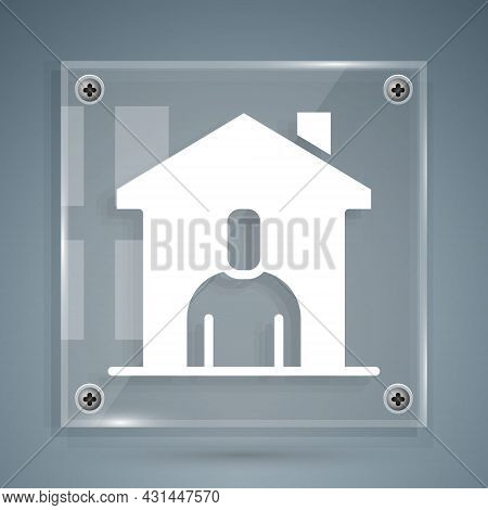 White Shelter For Homeless Icon Isolated On Grey Background. Emergency Housing, Temporary Residence