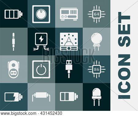 Set Light Emitting Diode, Electrical Measuring Instruments, Transformer, Audio Jack, Battery Charge