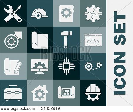 Set Worker Safety Helmet And Gear, Timing Belt Kit, Browser Setting, User Manual, Graphing Paper For
