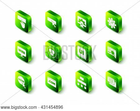 Set Ui Or Ux Design, Web Development, Website Statistic, Site Map And Icon. Vector