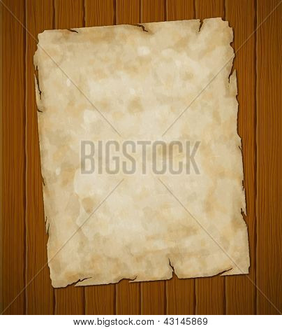 Old torn paper. Vector grunge background. Eps8 (object-group)