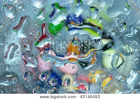 Colorful Water Drop Background