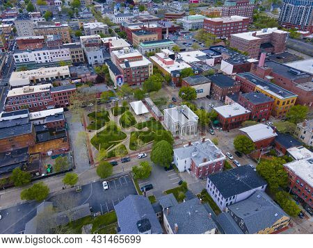 Aerial View Of Custom House Square In New Bedford Whaling National Historical Park In Historic Downt