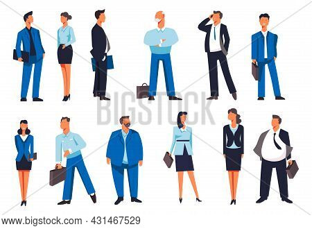 People Wearing Formal Clothes And Suits Vector