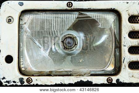 Broken Tractor Headlamp