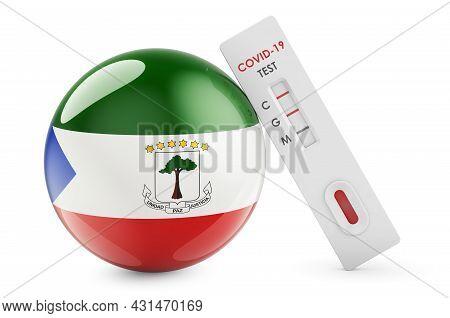 Diagnostic Test For Coronavirus In Eritrea. Antibody Test Covid-19 With Eritrean Flag, 3d Rendering