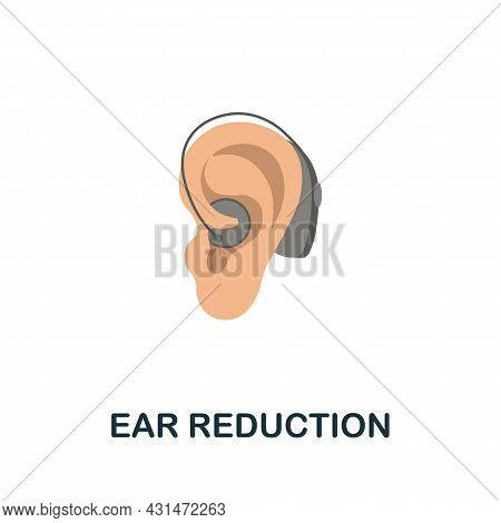 Ear Reduction Flat Icon. Colored Sign From Plastic Surgery Collection. Creative Ear Reduction Icon I