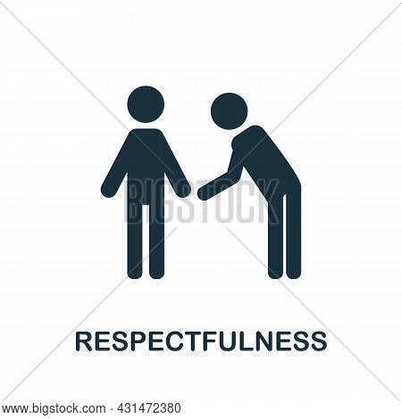 Respectfulness Flat Icon. Colored Sign From Positive Attitude Collection. Creative Respectfulness Ic