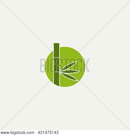 Vector Illustration Of A Bamboo Tree For An Icon, Symbol Or Logo. Suitable For All Types Of Business