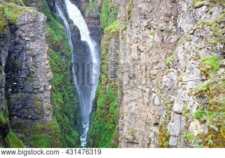 Glymur Is The Highest Of The Icelandic Waterfalls - It Is Located On The West Of The Island