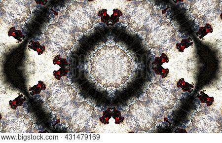 Stripe Wavy Separator. Mystic Geometric Ornament. Continuous Magic Wallpaper. Groovy Wallpaper. Acid
