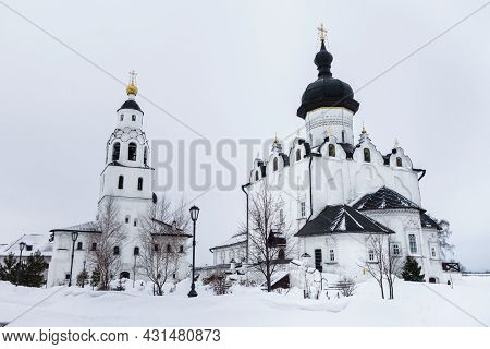 Main Buildings Of Uspensky (assumption) Monastery In Village Of Sviyazhsk, Near Kazan, Russia. Right