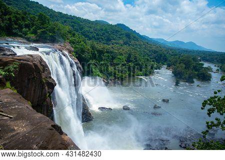Athirapally Waterfalls Kerala India, Beautiful Waterfall Landscape Photography Athirapally Kerala In