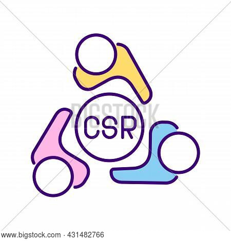 Csr Committee Rgb Color Icon. Board Of Directors. Executives. Transparent Activities. Social Perform