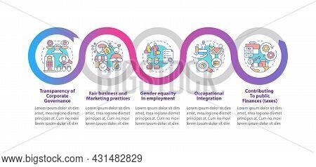 Csr Matters Vector Infographic Template. Transparent Management Presentation Outline Design Elements