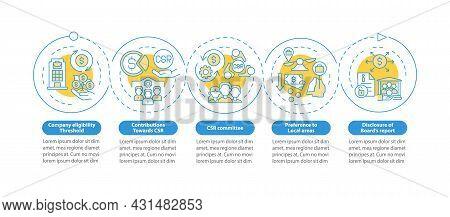 Csr Basics Vector Infographic Template. Business Management Presentation Outline Design Elements. Da