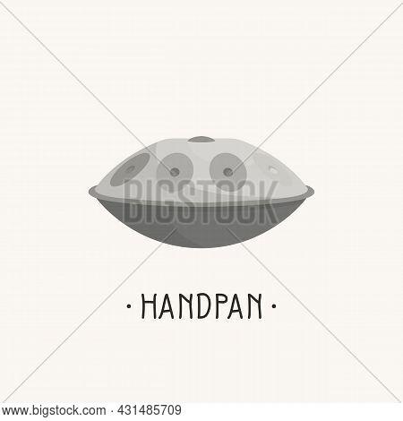 Handpan. Hand Drum Music Instrument. Percussion. Vector