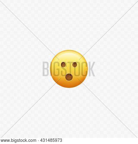 Amaze Face Emoji. Isolated On White. Surprised. Vector