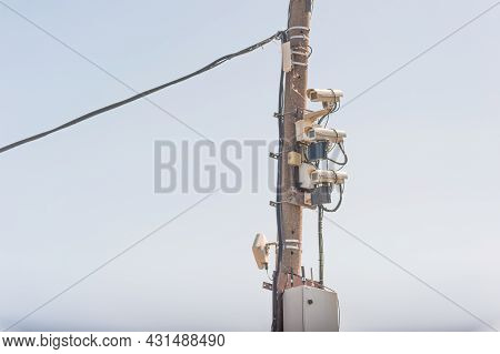 A Modern Complex Of Video Surveillance Cameras With Infrared Illumination, Working In Any Weather, D