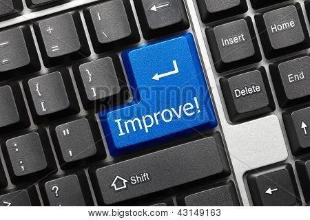 Conceptual Keyboard - Improve (blue Key)