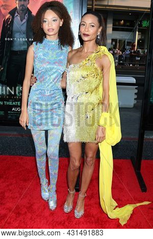 LOS ANGELES - AUG 17:  Nico Parker, Thandiwe Newton at the Reminiscence Los Angeles Premiere at the TCL Chinese Theater IMAX on August 17, 2021 in Los Angeles, CA